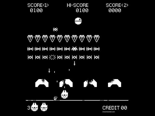 Space Invaders Strike Back Tee