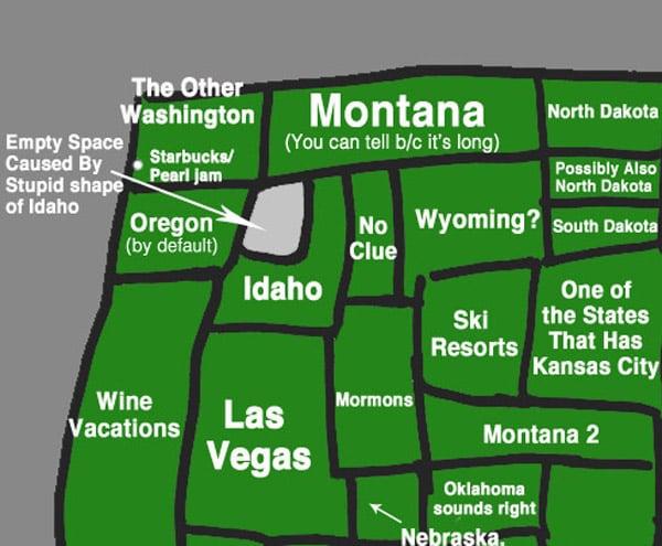 USA Map, NY Style