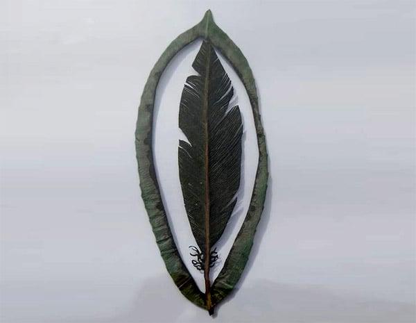 Cut-out Leaf Art