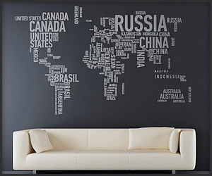 A Different World Wall Stickers