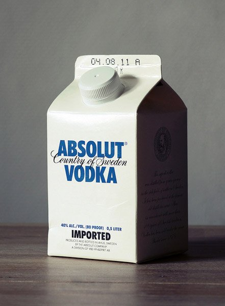 Alcoholic Milk Cartons