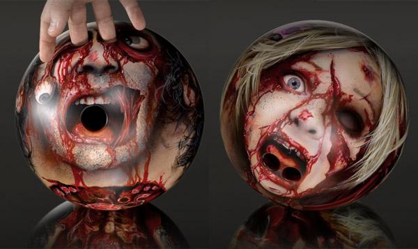Zombie Head Bowling Balls