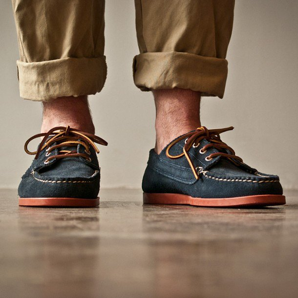 Oak St. Navy/Red Trail Oxford