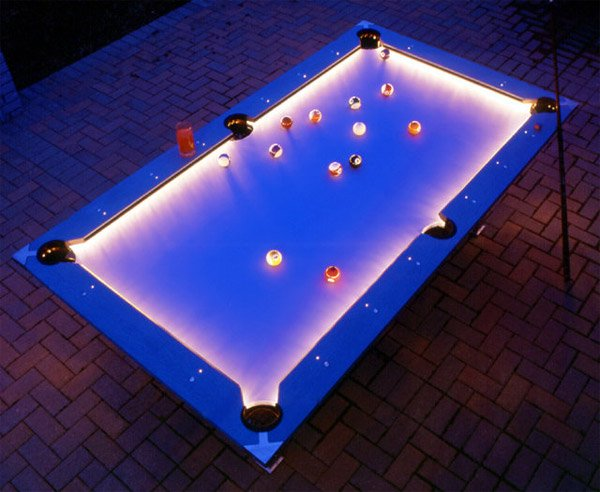 Outdoor Pool Table - Neon pool table