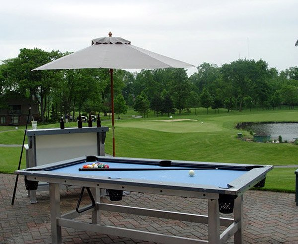 Outdoor Pool Table - The Awesomer