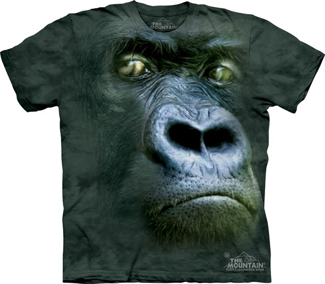 Big face animals t shirts the awesomer for Animal tee shirts online
