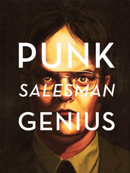 Punk Salesman Genius T-Shirt