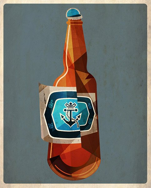 Cubist Beer Prints