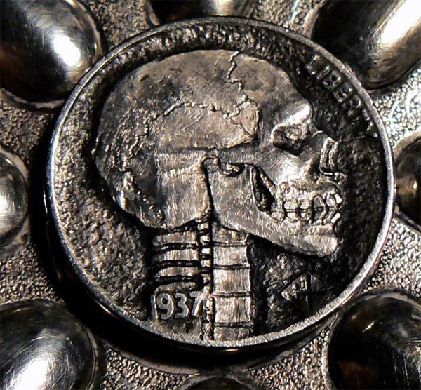 Skull Hobo Nickels
