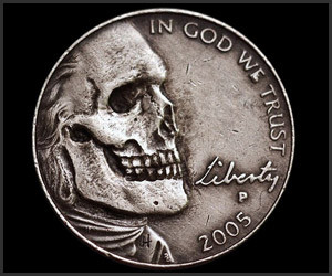 Skull Hobo Nickels
