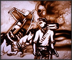 Uncharted 3 Sand Art