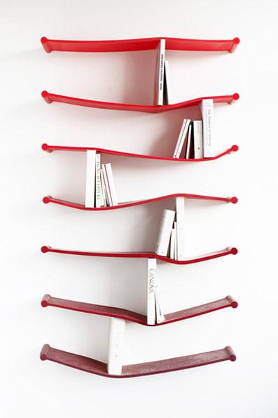 Rubber Bookshelves