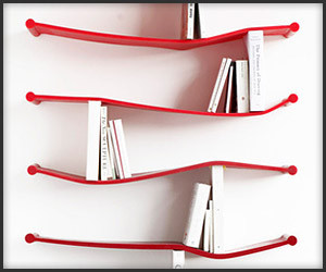 Rubber Bookshelves