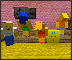 Minecraft Simpsons Opening