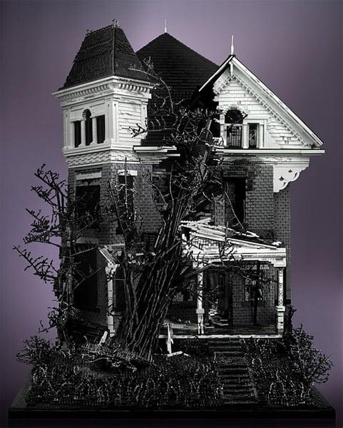 Spooky LEGO Houses