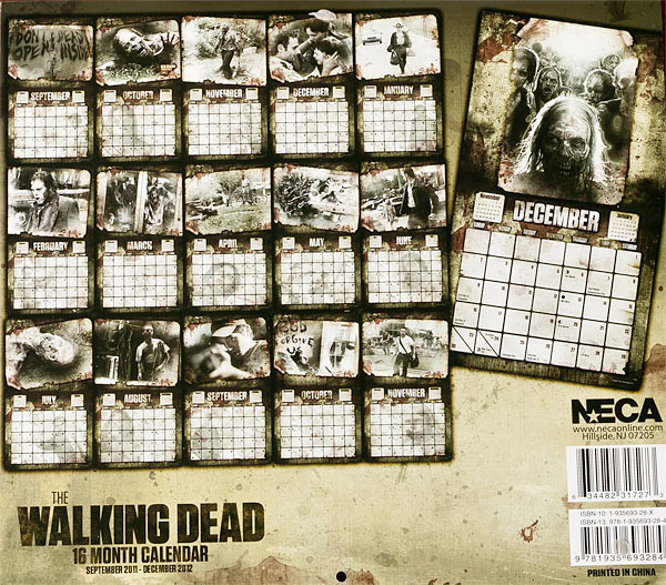 Walking Dead Wall Calendar