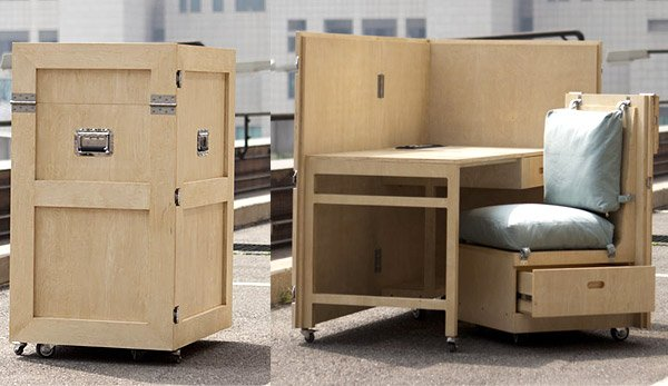 CRATES Folding Furniture The Awesomer