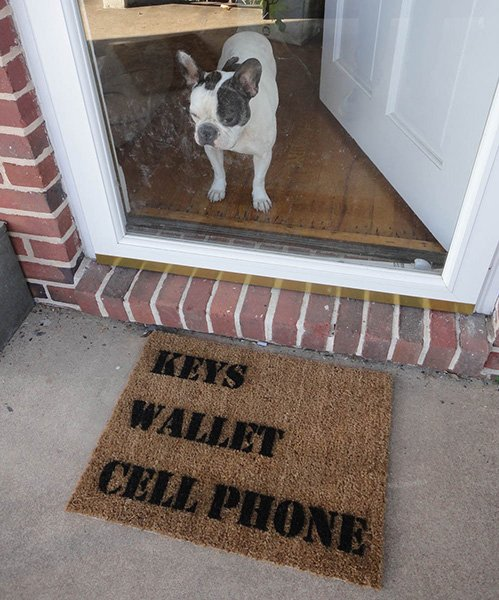 Keys Wallet Cellphone Doormat