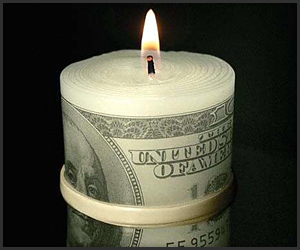 Money to Burn Candle