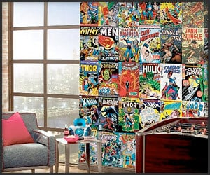 Awesome wallpaper on the awesomer for Comic book wallpaper mural