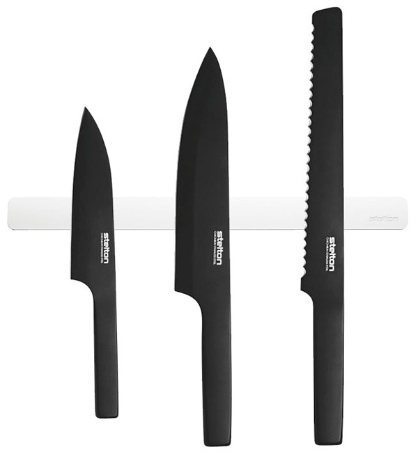 Stelton Pure Black Knives