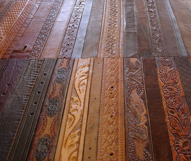 Leather Belt Flooring The Awesomer