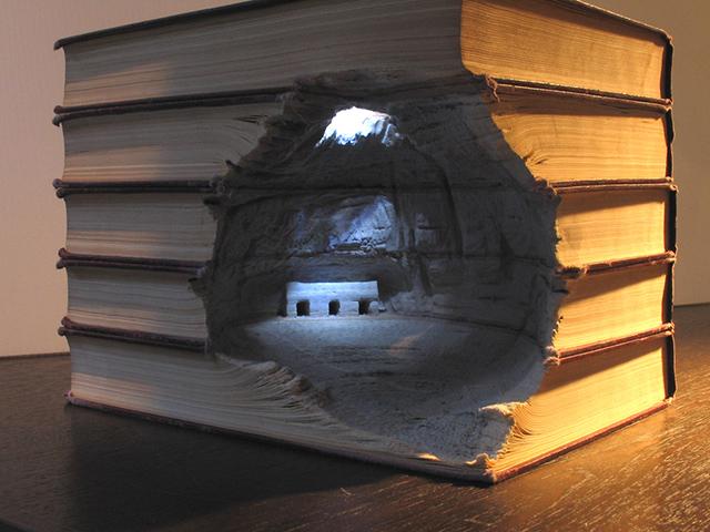 Carved Book Landscapes