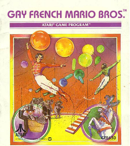 Literal Atari Game Covers