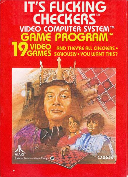 Literal Atari Game Covers