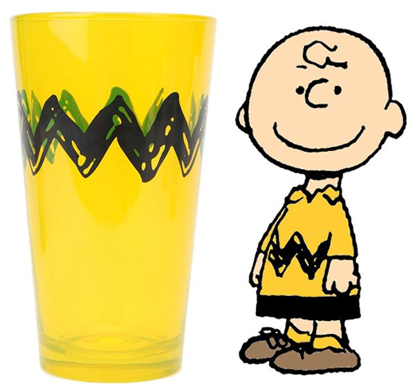 Charlie Brown Pint Glasses