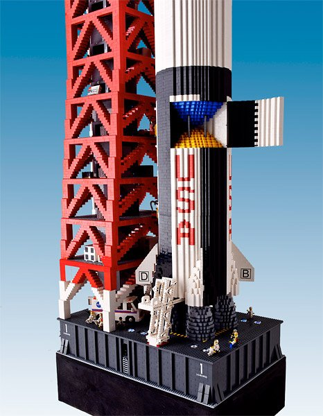 19-Foot LEGO Rocket