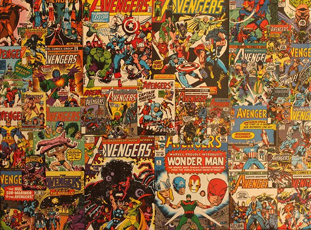 Book Cover Collage Usa ~ Comic collage art the awesomer