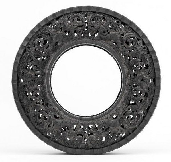 Carved Tire Art