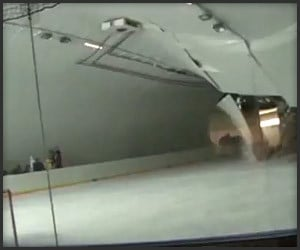 Hockey Rink Close Call