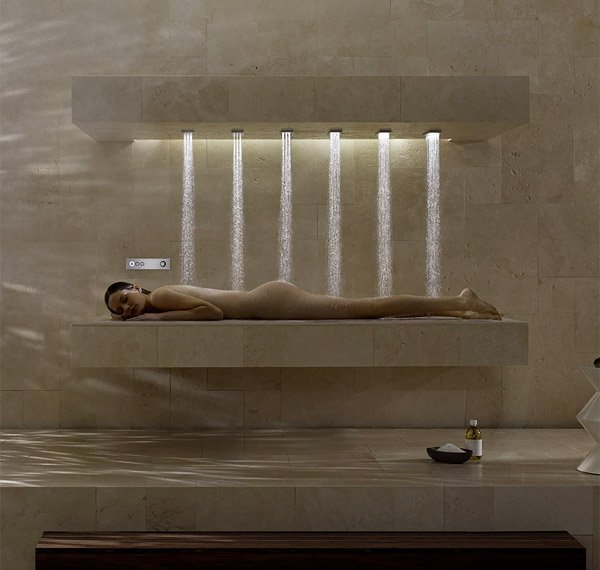 The Horizontal Shower