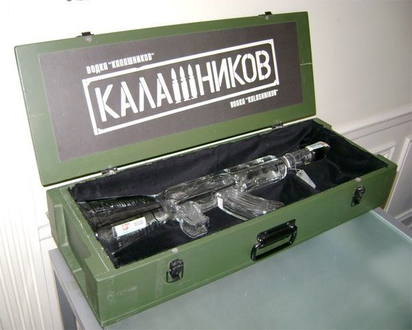 Kalashnikov Vodka AK 47 Bottle