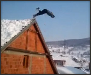 Roof Dive into Snow