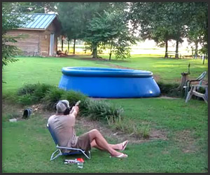 Grandpa Shoots Pool