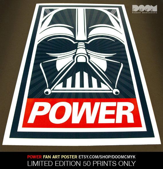 Darth Vader Power Poster