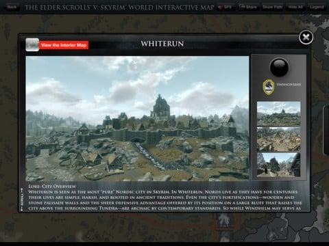 Official Skyrim Interactive Map