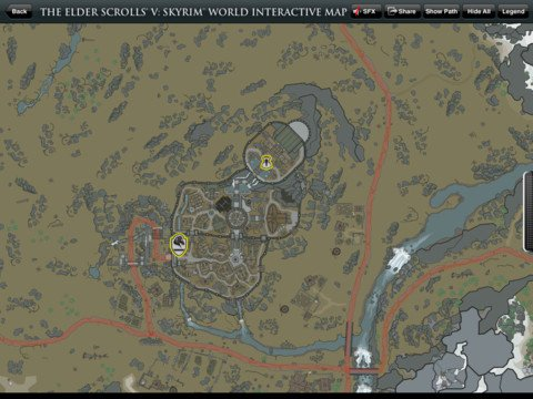 Official Skyrim Interactive Map