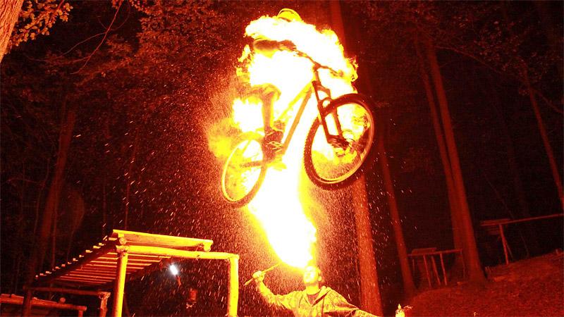 Fiery Bike Jump