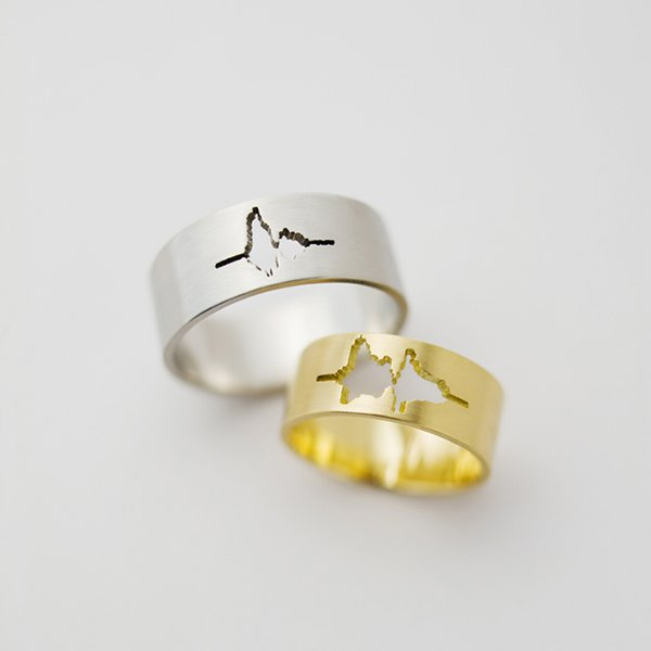Waveform Wedding Ring
