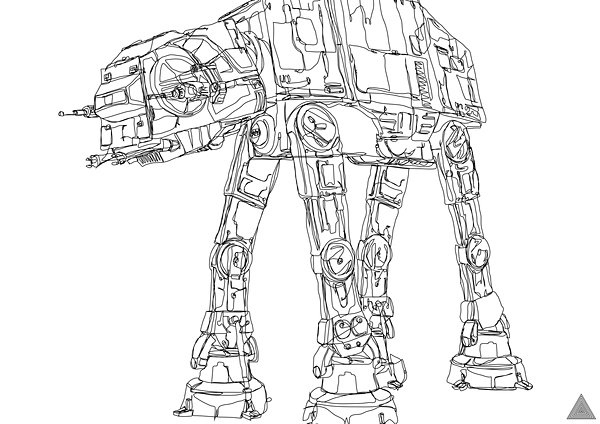 Continuous Line Star Wars Art
