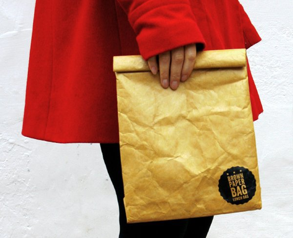 Reusable Brown Paper Bag The Awesomer