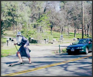 Gandalf Goes Longboarding