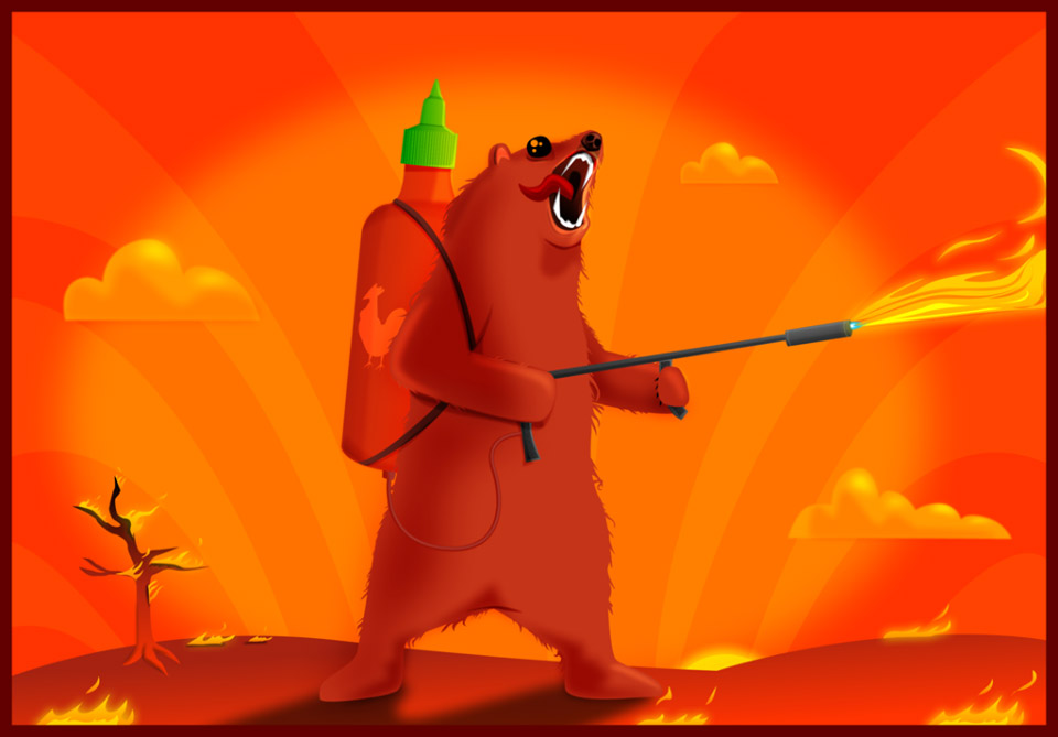 Sriracha Flamethrower Grizzly