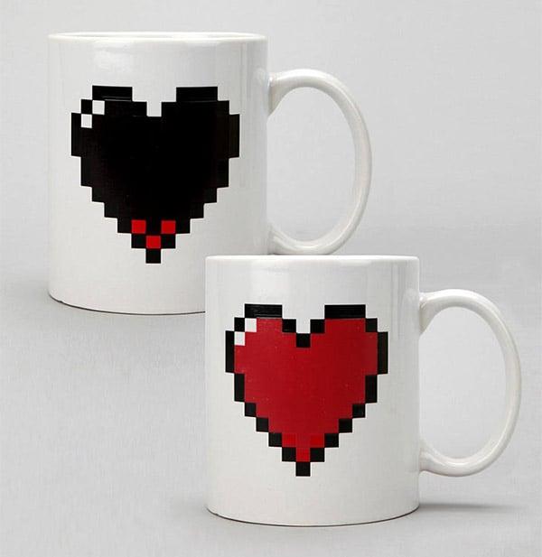 Pixel Heart Life Mug