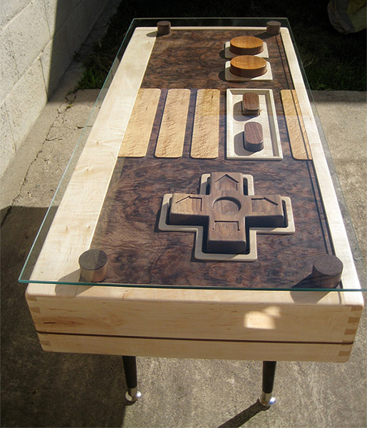 nintendo controller coffee table - the awesomer