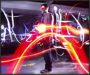 Bullet-Time Light Painting